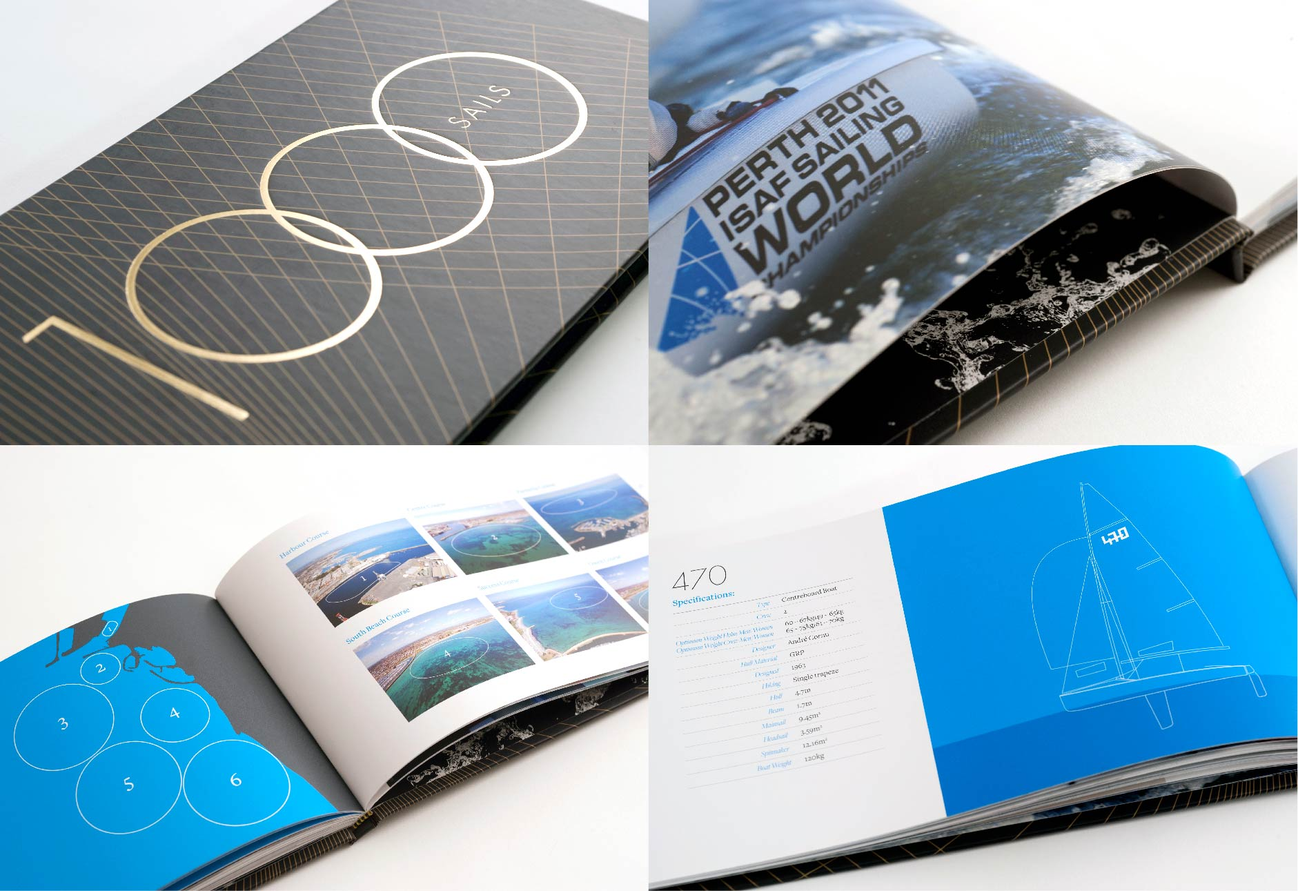 Book design and layout for the ISAF World Sailing Championships in Perth (completed whilst at The Cut Creative)