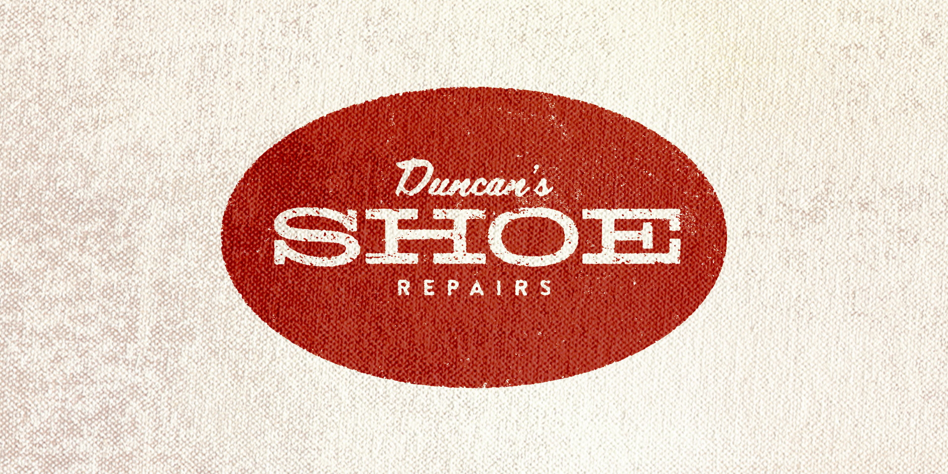 Fixer of shoes and cutter of keys, Duncan needed a updated but old style typographic solution