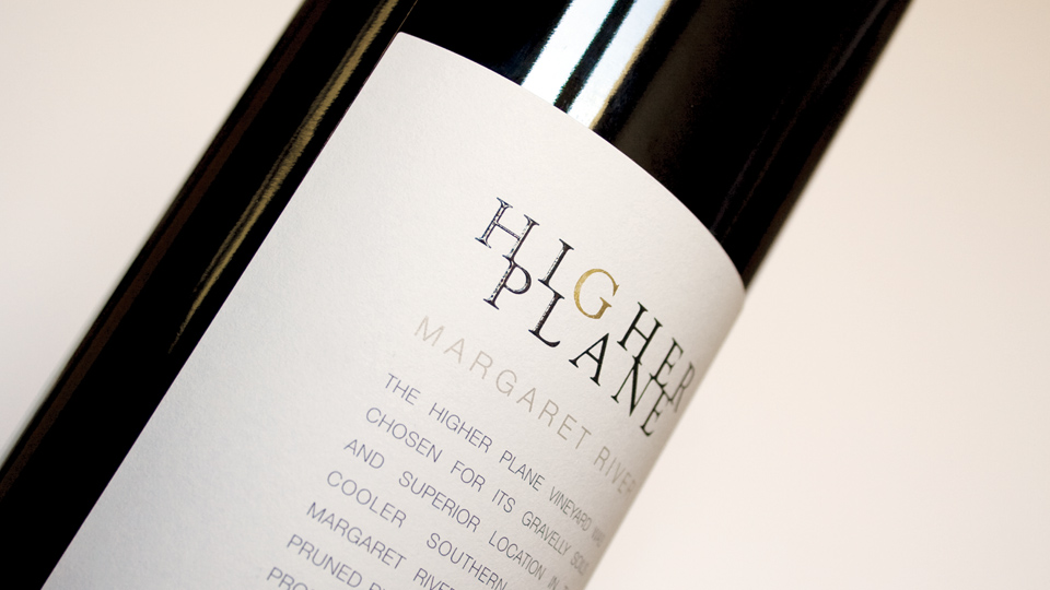 Labels for the range of Higher Plane wines