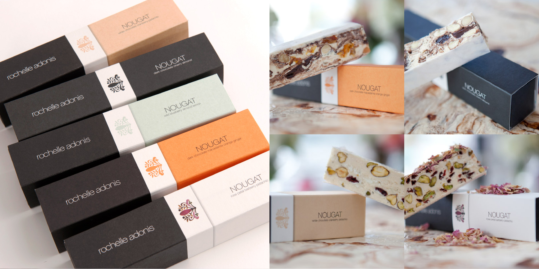 Sophisticated nougat packaging for some sweet treats
