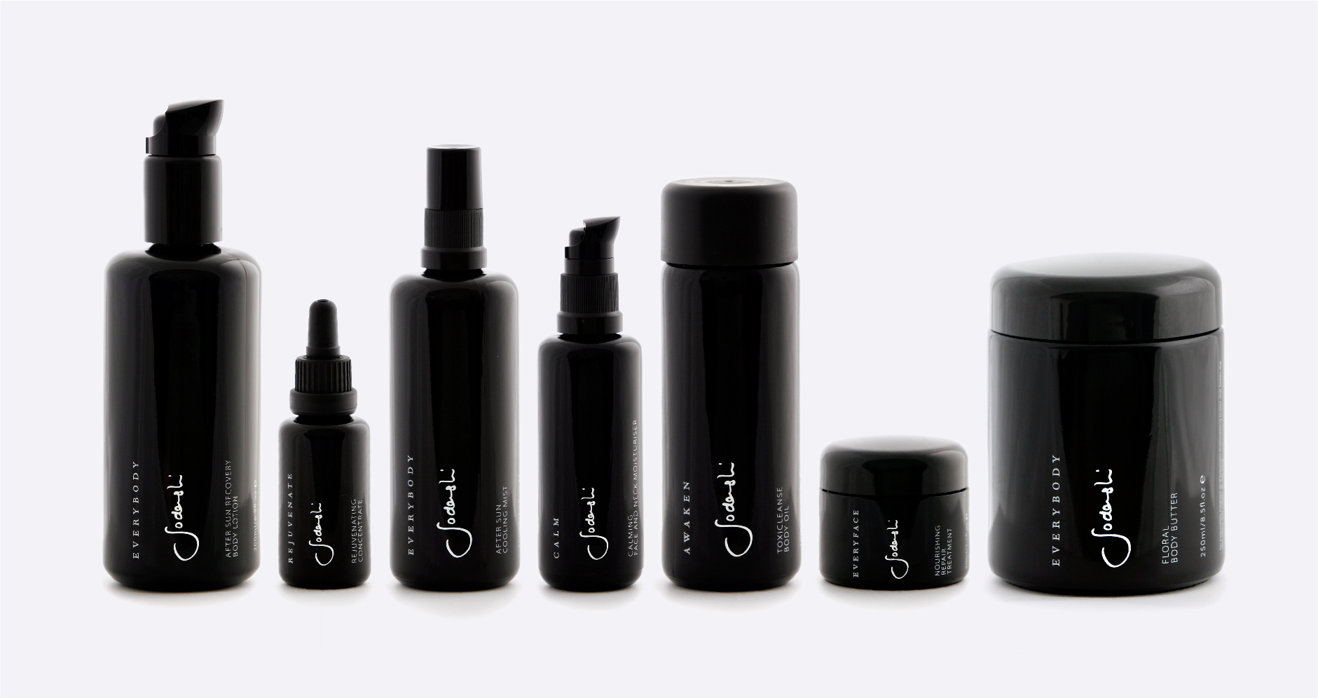 Sodashi skincare light sensitive glass packaging